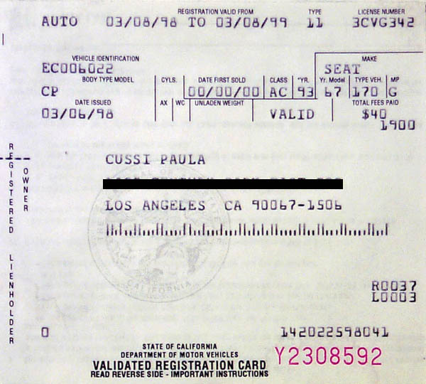 Vehicle Test History - California Bureau of Automotive Repair